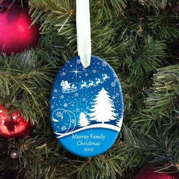 Personalised Family Christmas Hanging Decoration